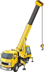 mobile crane on a truck base