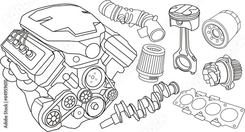 u0026quot car engine parts u0026quot  stock image and royalty