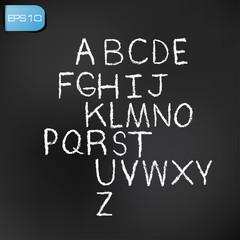 Alphabet white version,vector