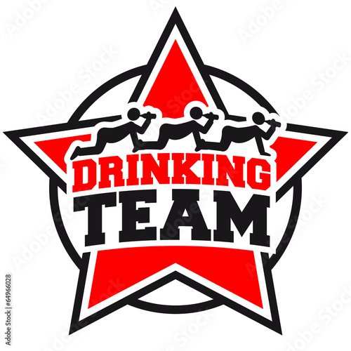 Quot Drinking Team Star Logo Quot Stock Photo And Royalty Free