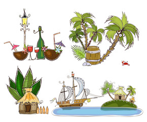 Travel to the sea side, Holiday concept