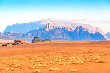 Scenic Jebel Qatar Mountain in Wadi Rum, Jordan