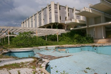An abandoned five star hotel resort