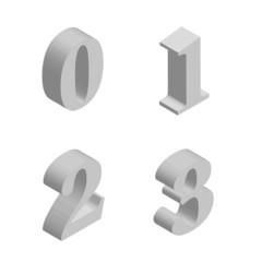 Vector perspective numbers