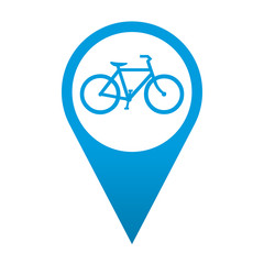 Icono localizacion simbolo bicicleta