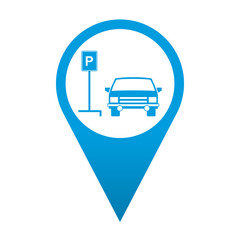 Icono localizacion simbolo parking para coches