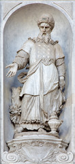 Venice - prophet Aron in church Santa Maria del Rosario