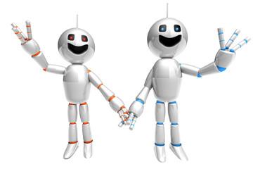 Glückliches Roboter Paar