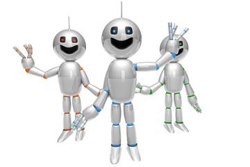 Winkende Cartoon Roboter