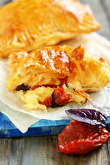 Puff pastry with cheese.