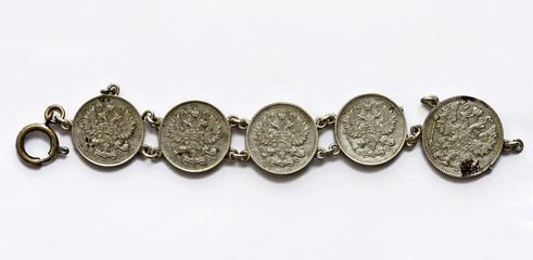 Bracelet made from russian silver coins #1