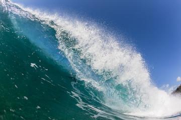 Wave Breaking Crashing Blue