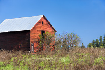 Old red barn.