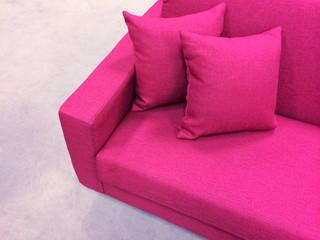 Modern pink sofa