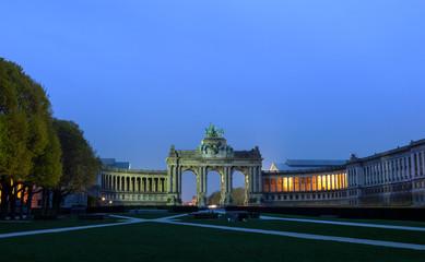 Wall Mural - arch de Triumph Brussels Jubilee Park