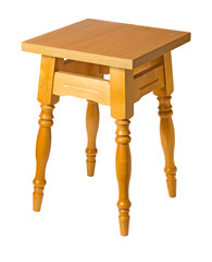 Wooden stool isolated