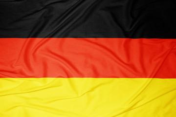 Deutschland Fahne in leichtem Wind