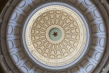 The Texas State Capitol's Rotunda Ceiling in Austin, Texas