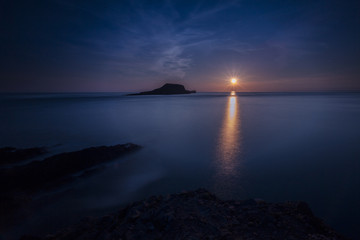 Rhossili bay sunset