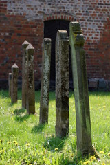 Tombstones from the 18th and 19th century