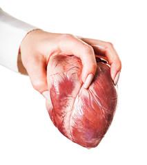 hand throws heart