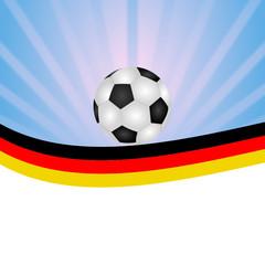 Fußball vor Himmel