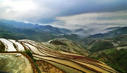 Photo sur cadre textile Guilin The image of travel destinations in China,Asia