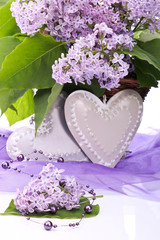 Occasional decoration - heart and flower lilac
