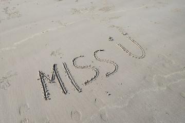 Drawings on sea sand