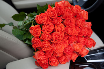 Freshly red roses