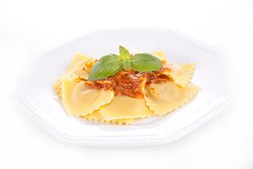 ravioli and tomato sauce