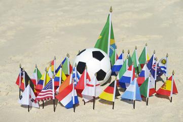 International Football Country Flags Soccer Ball Brazil