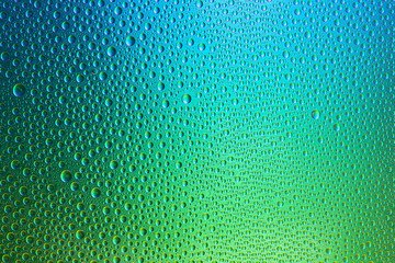 Colorful green blue waterdrops