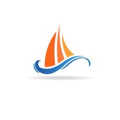 Marine boat waves image. Concept of marine life