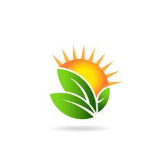 Sunny ecological image logo