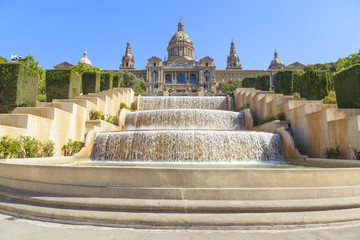 Tuinposter Barcelona national museum of art in barcelona