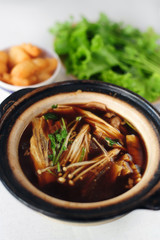 pork and herbal soup, ba kut teh