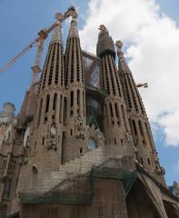 Church of Sacred family in Barcelona, Spain