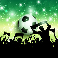 Football or soccer crowd background