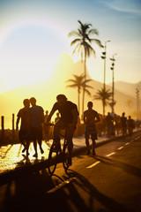 Bike Path Sidewalk Ipanema Beach Rio de Janeiro Brazil