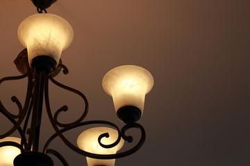 Luxury candelabrum on dark wall background
