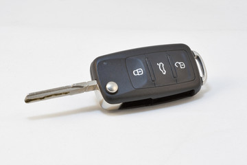 Modern Car Key on White