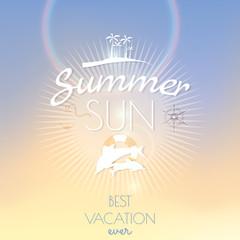 Summer sun creative poster