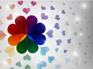 Colorful heart background.