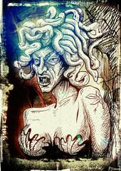 Gorgon - An hand drawn illustration