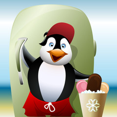 The seller of ice cream