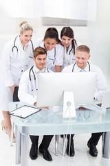 Doctors Using Desktop PC