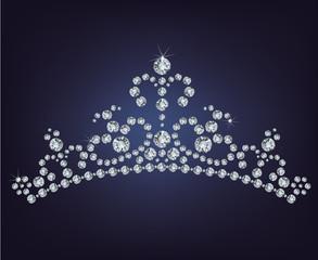 Tiara crown women's wedding made from diamonds