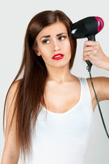 drying hair dryer