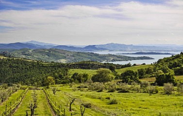 Italian landscape from Umbria